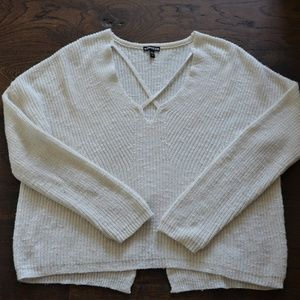 EXPRESS Ivory Knitted Oversize Women's Sweater
